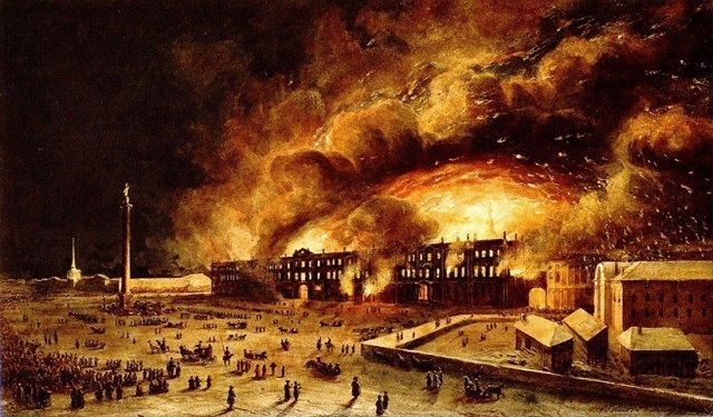 The Winter Palace fire and my great great grandfather