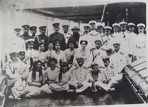 Russian naval officers on the Standart