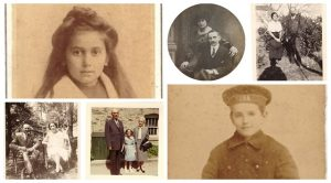 Across the Years from Childhood – a Collage of Family Photos