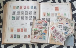 As a girl she collected stamps